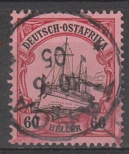 GERMAN EAST AFRICA 1905 YACHT 60H NO WMK EXPERTISED BOTHE BPP