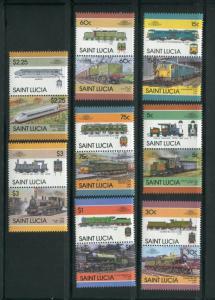 St Lucia #807-14 MNH