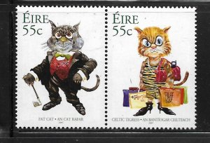 IRELAND, 1753A, MNH, PAIR, ,CAT ART