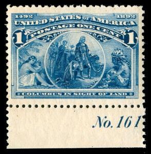 momen: US Stamps #230 Mint OG NH XF Jumbo PF Cert