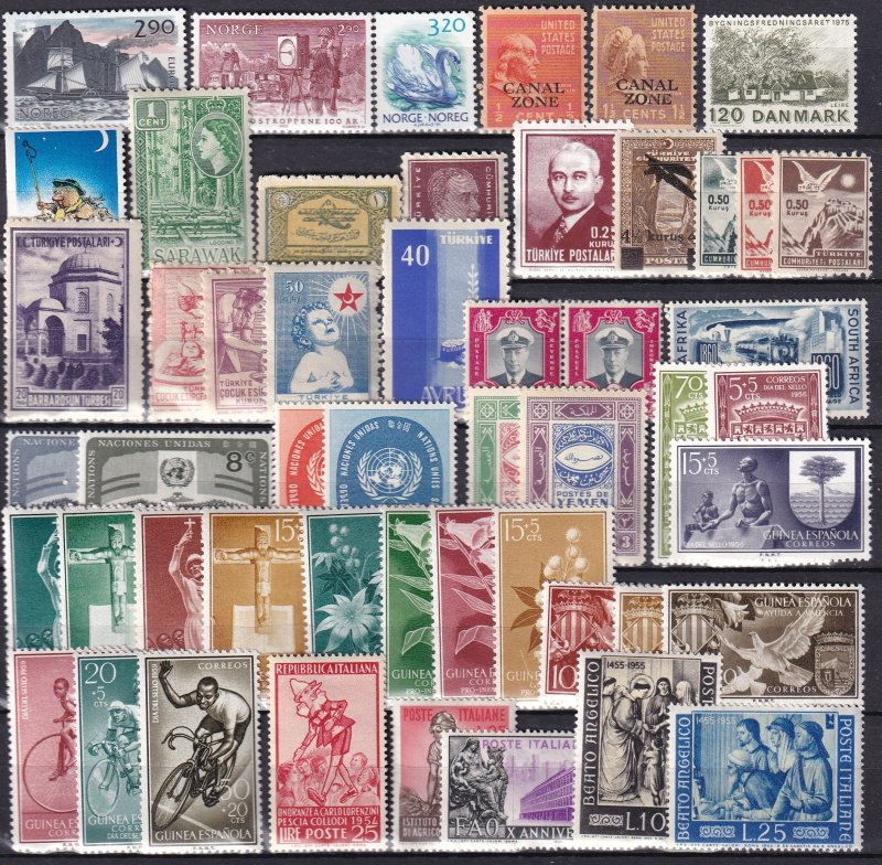 Worldwide  Lot-  Mint Never Hinged  (Z9348)