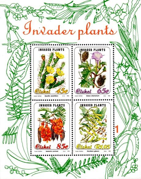 Ciskei - 1993 Invader Plants MS MNH** SG MS240