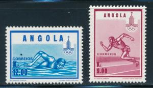Angola - Moscow Olympic Games MNH Sports Set (1980)