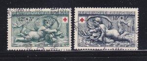 France B273-B274 Set U Red Cross (B)