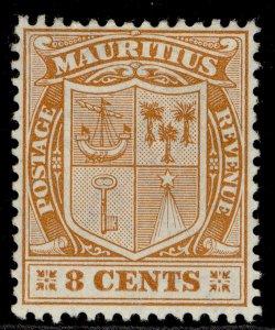 MAURITIUS EDVII SG187, 8c orange, M MINT.