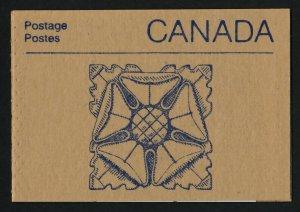 Canada 1187a Booklet BK96a Floral Cover MNH Parliament Buildings