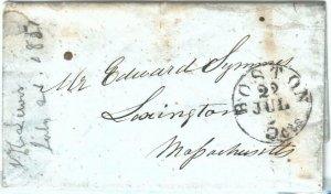72318 -  UNITED STATES USA - PREPHILATELIC Cover:  BOSTON, MA  1851  5 cents