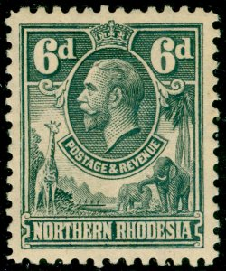 NORTHERN RHODESIA SG7, 6d slate-grey, M MINT.
