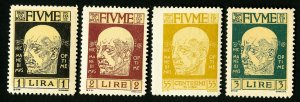Fiume Stamps # 94-7 VF OG NH Scott Value $162.00