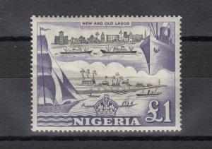 Nigeria QEII 1953 £1 SG80 MH J8389