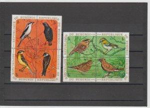 Burundi  Scott#  337-42, C132-7 CTO  (1970 Birds)