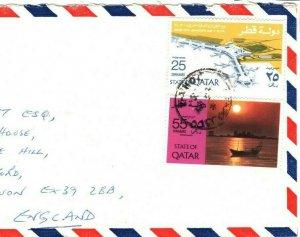 Gulf States QATAR Cover Aviation Commercial Air Mail Devon 1976 FC223