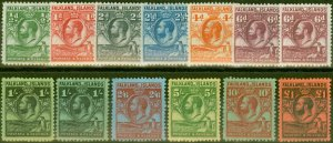 Falkland Islands 1929 Extended set of 13 SG116-126 V.F Mtd Mint