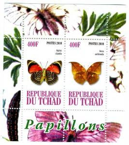 Chad 2010 Butterflies Sheet Perforated mnh.vf