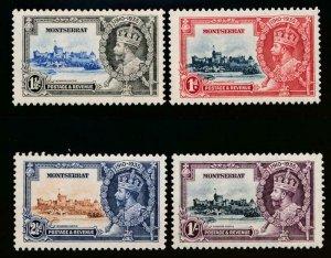 MONTSERRAT 85-88 MINT LH 1935 SILVER JUBILEE