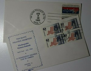 Pan Slavic Exhibition Cechoslovak Philatelic Club of American Chicago Ill Cachet