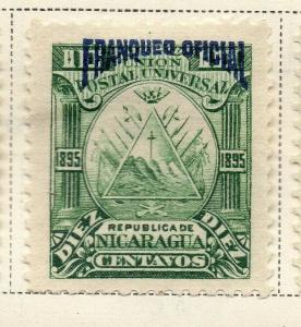 Nicaragua 1895 Early Issue Fine Mint Hinged 10c. Official Optd 323740