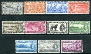 NEWFOUNDLAND-1937 Coronation.  An unmounted mint long set Sg 257-267