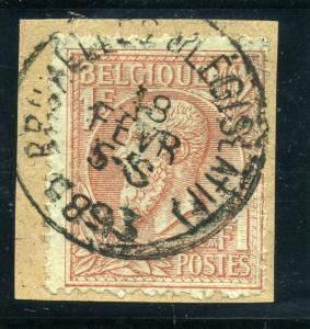 Belgium #54  on piece Used Special cancel CV $17.50