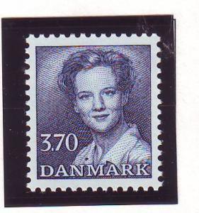 Denmark Sc 714 1984 3.70 kr deep blue Queen stamp mint NH