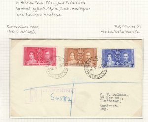 BECHUANALAND PROTECTORATE KGV1 1st DAY 1937 WITH MAFEKING CANCELS