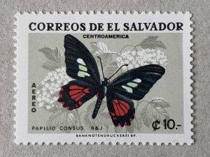 El Salvador 1969 10col Butterfly, MNH. Scott C255, CV $18.00