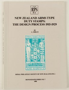 New Zealand Arms type Stamps Design Process 1915-29 by Dibley.