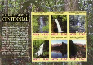 NEVIS 1469 MNH S/S SCV $7.25 BIN $4.25 US FOREST SERVICE