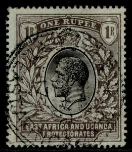 EAST AFRICA and UGANDA GV SG53, 1r black/green, USED.