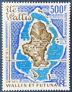 Wallis and Futuna Islands C79 MNH Map of Wallis and Uvea Islands (SCV $20.00)