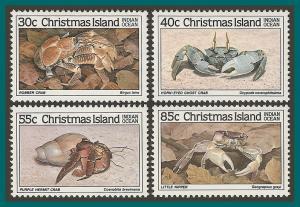 Christmas Island 1985 Crabs I, MNH  #162-171,SG195-SG298