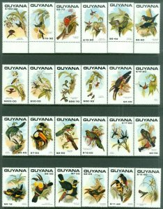 EDW1949SELL : GUYANA 1990 Scott #2305-31 Birds. Complete set. VF Mint NH Cat $52