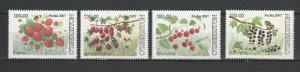 Bosnia and Herzegovina 2007 Berries 4 MNH stamps
