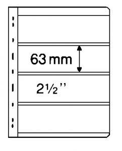 Stocksheets,  VARIO 4 Pocket, 2 side, BLACK (1 lot 5 PKS) (V4S)
