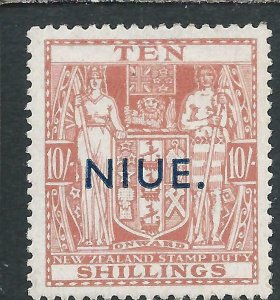 NIUE 1941-47 POSTAL FISCAL 10s PALE CARMINE-LAKE MM SG 81 CAT £140