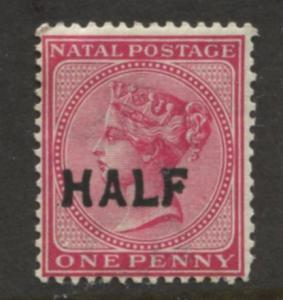 Natal -Scott 80 - QV Overprint Definitive-1895 -MNH - Single 1/2p on a 1p Stamp