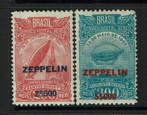 Brazil SC# C26 and C27, Mint Hinged, Hinge Remnant - S8201