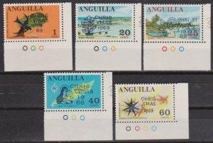 1969 Anguilla Scott 78-82 Christmas MNH