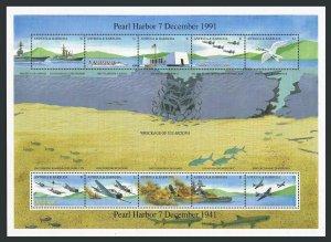 Antigua 1488 aj sheet,MNH.Michel Bl.219. WW II.Japanese Attack on Perl Harbor.