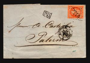 France 1863 Cover to Palermo - Z15705