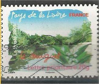 FRANCE, 2009, used 20 Gr. - Gram, Flora, Pays de La Loire. Mi 4643