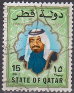Qatar #690 F-VF Used CV $12.00 (A12856)