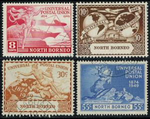 North Borneo Scott 240-243 Used.