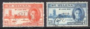 St. Helena (1946) #128-9 Used