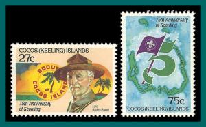 Cocos 1982 Boy Scout Movement, MNH  #85-86,SG82-SG83