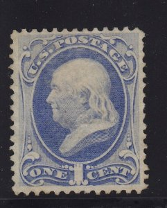 134 VF+ unused ( mint no gum ) with nice color cv $ 750 ! see pic !