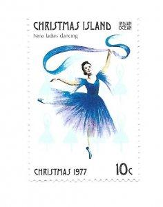 Christmas Island 1977 - Mint NH - Scott #86i