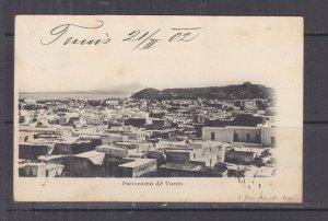 TUNISIA, 1902 ppc. Tunis, General View, 5c. Tunis to Austria.