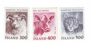 Iceland Sc556-8 1982 animal stamps mint