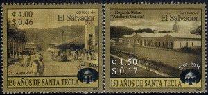 EL SALVADOR SANTA TECLA 150th ANNIVERSARY Sc 1603-1604 SET of 2 MNH 2004